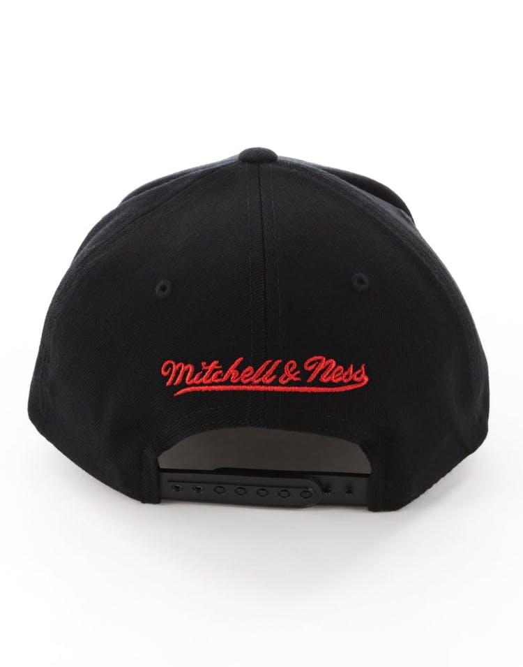3608a4a15 Mitchell & Ness Houston Rockets Full Court Logo 110 Flex Snapback Black