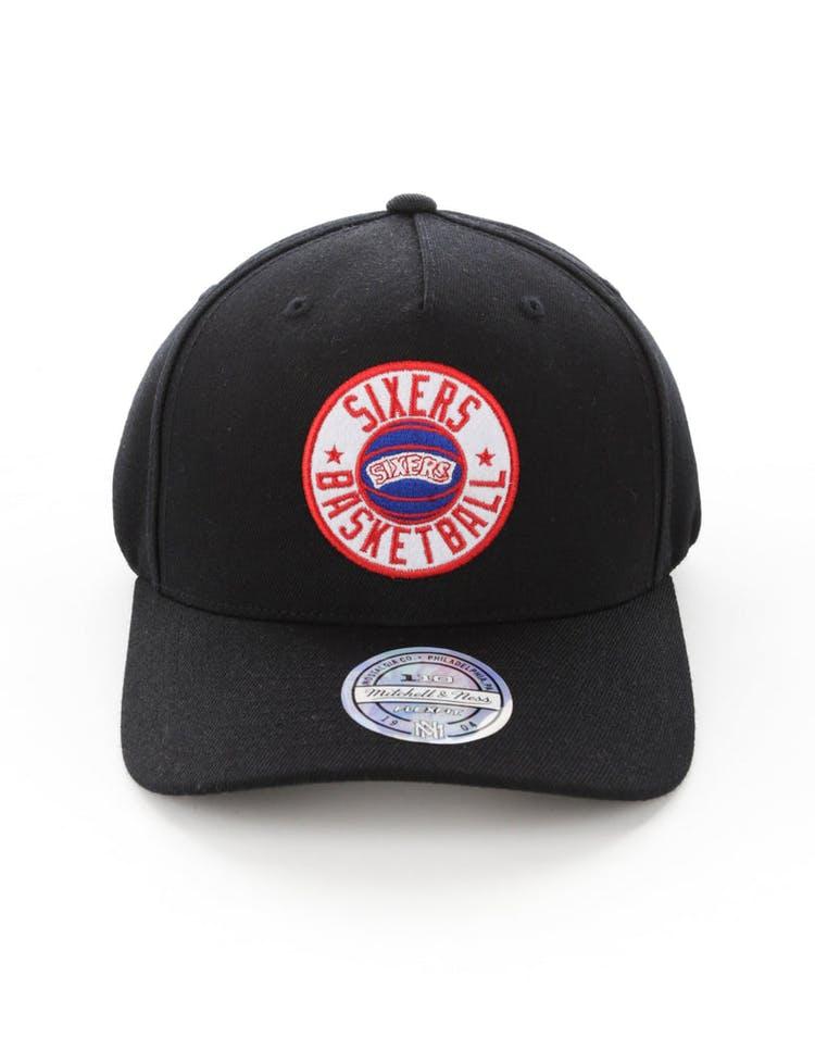 a813c0d5ccc Mitchell   Ness Philadelphia 76ers Full Court Logo 110 Flex Snapback B –  Culture Kings