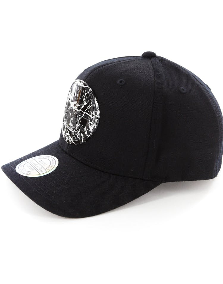 cheap for discount 132bb 6e148 Mitchell   Ness Golden State Warriors 110 Flex Snapback Black Marble