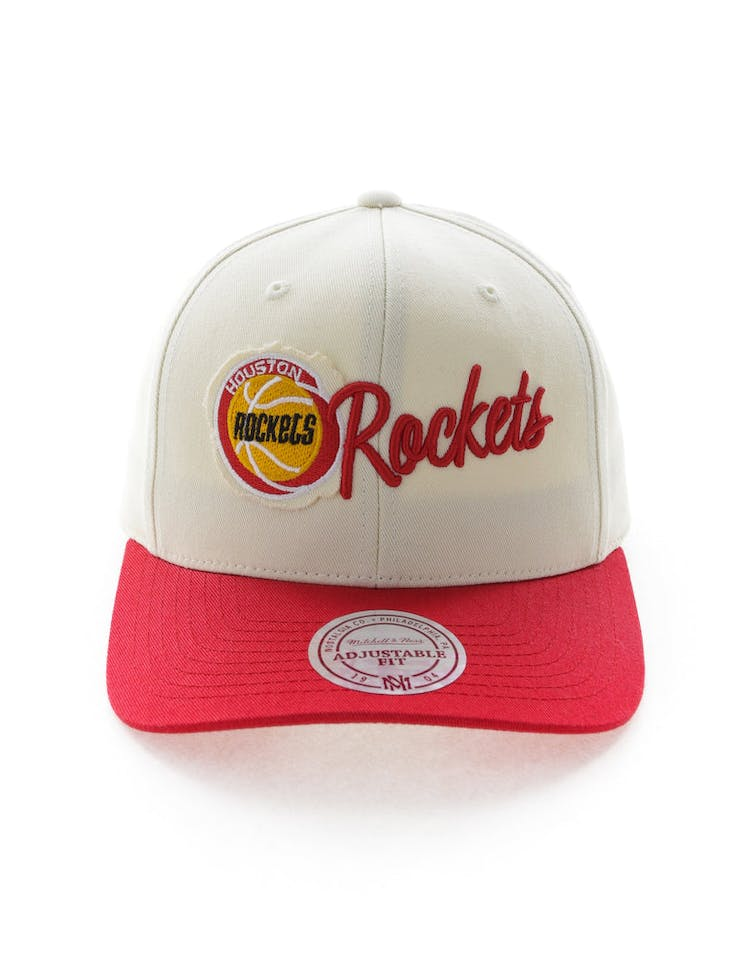 c5b4f0626123e5 Mitchell & Ness Houston Rockets HWC Vintage 110 Snapback Vintage Off W – Culture  Kings