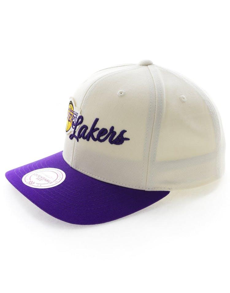 finest selection ba0c4 3e53c Mitchell   Ness Los Angeles Lakers HWC Vintage 110 Snapback Vintage Off  White