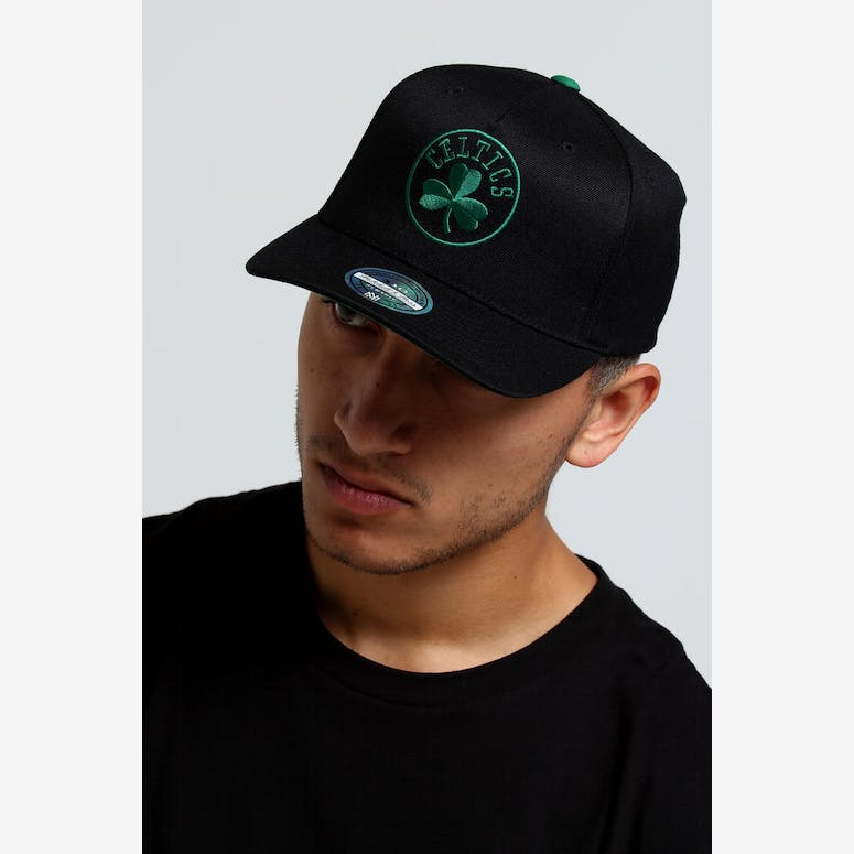 35f42fe0306 Mitchell   Ness Boston Celtics Outline 110 Snapback Black Green – Culture  Kings