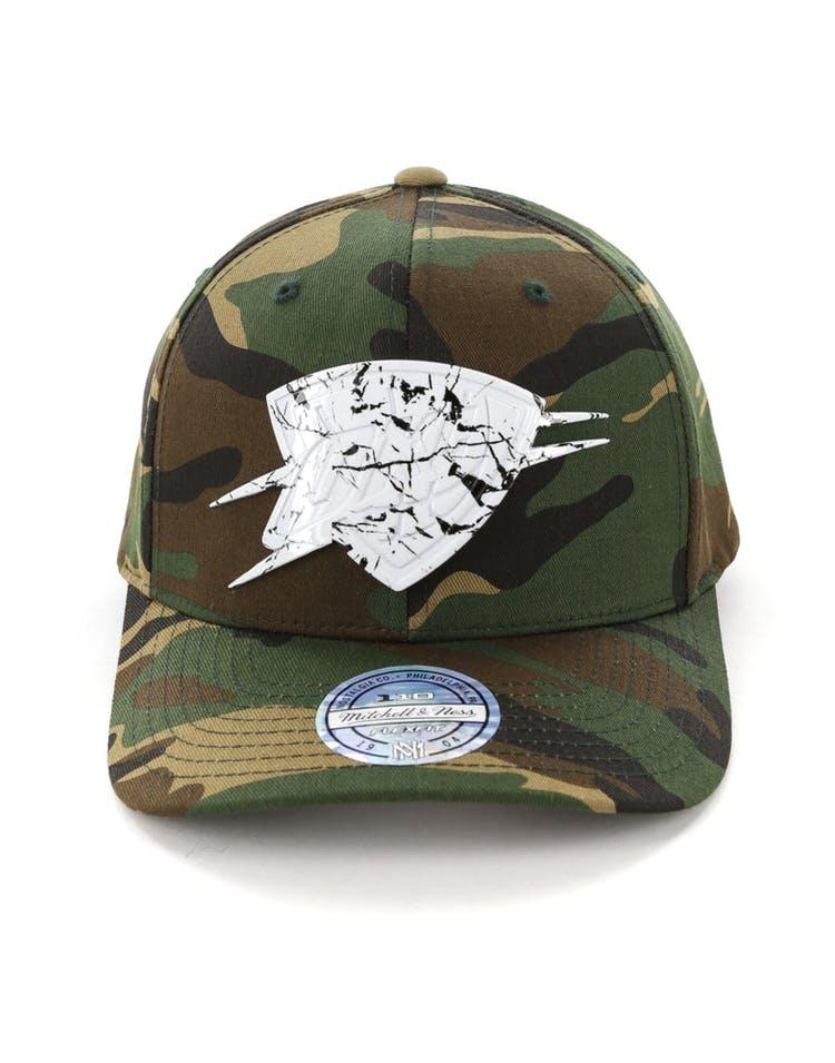 finest selection 263e3 aa83e Mitchell   Ness Oklahoma City Thunder 110 Flex Snapback Camo Marble