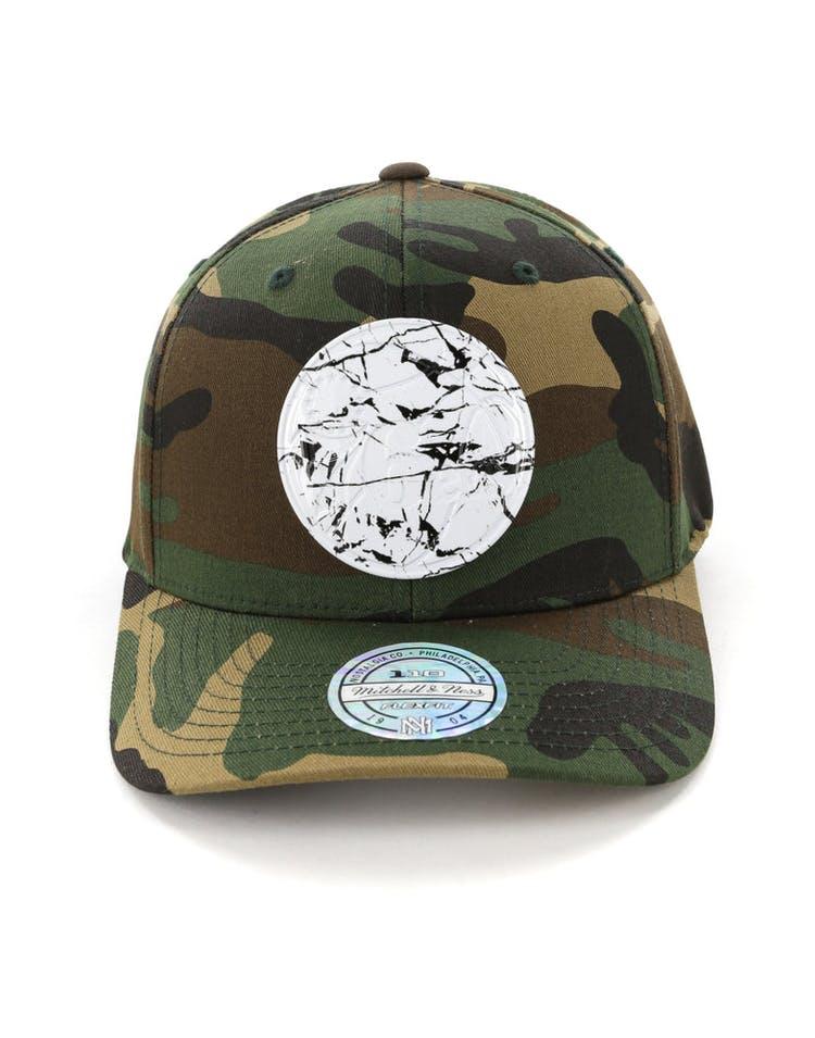 online store 9a575 53208 Mitchell   Ness Philadelphia 76ers 110 Flex Snapback Camo Marble