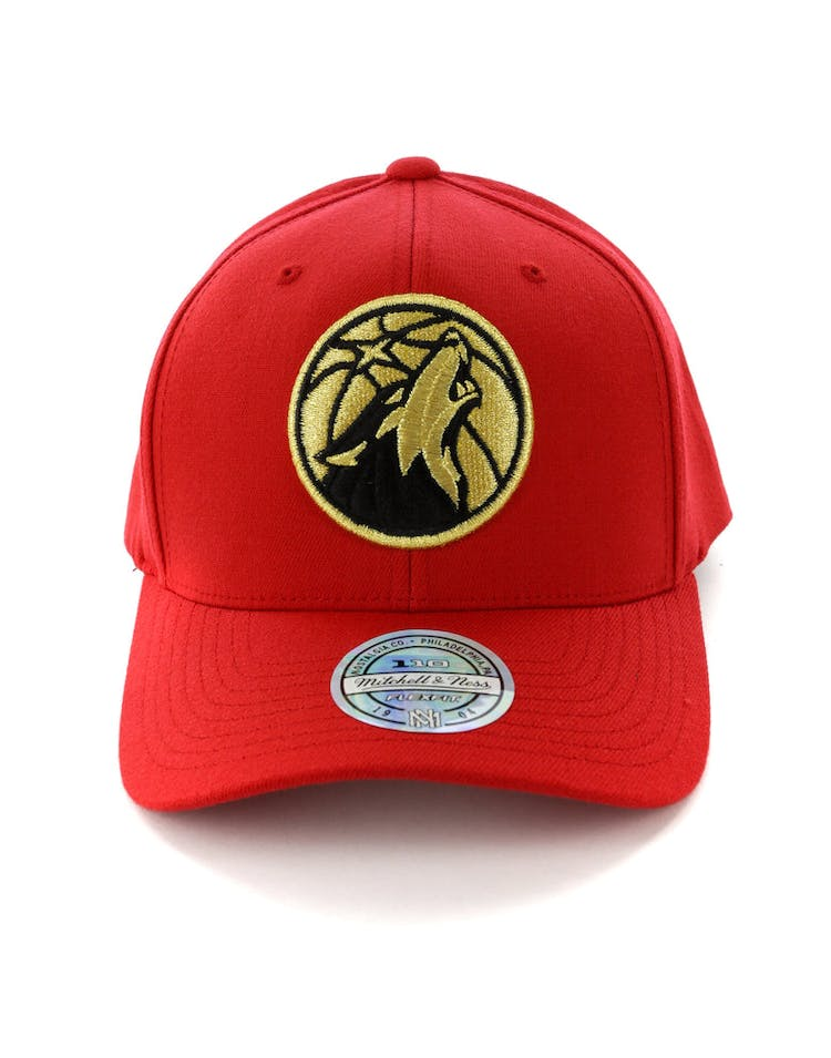 premium selection 23933 da742 Mitchell   Ness Minnesota Timberwolves 110 Snapback Red Gold
