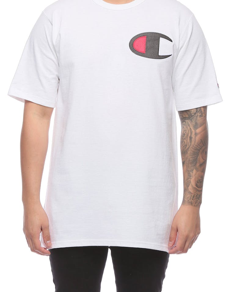 3ecafd948 Champion Heritage Tee Big C White – Culture Kings