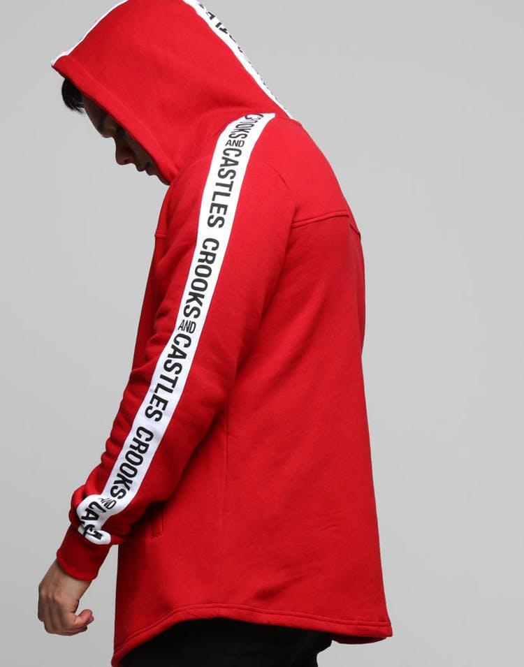 8a2dc723db2 Crooks   Castles Side Line Knit Pullover Crimson – Culture Kings