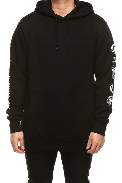 Crooks & Castles Silver Coin Knit Hooded Pullover Black/Silver
