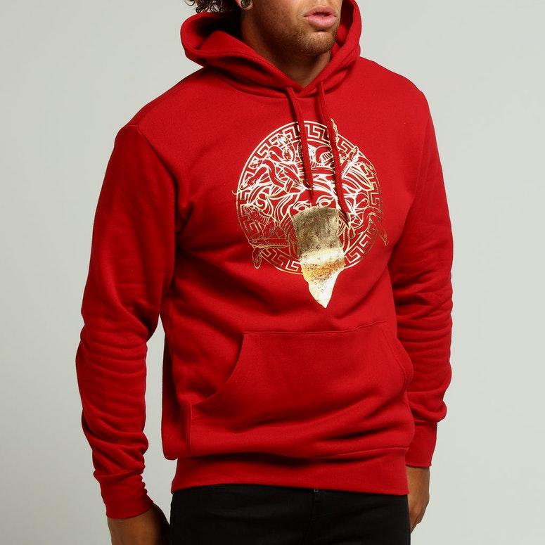 Crooks & Castles Knit Hood Prime Medusa Red/Gold