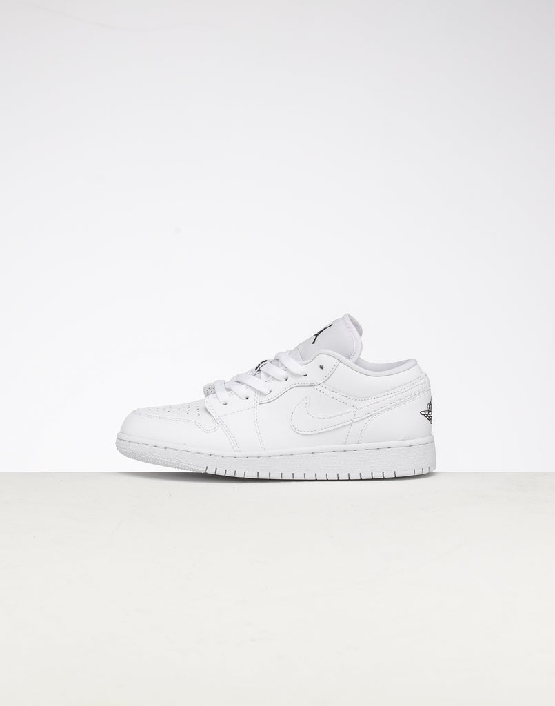 Jordan Kids Air Jordan 1 Low (GS) WhiteBlackWhite