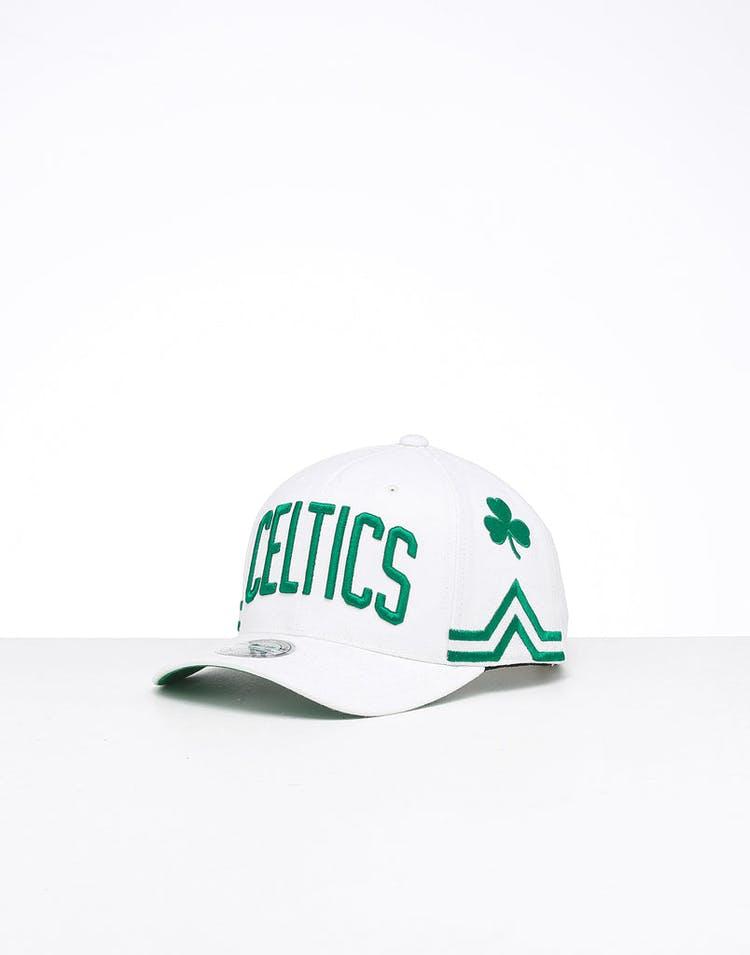online retailer fef8b a32c2 Mitchell & Ness Boston Celtics City 6 Panel 110 Flexfit Snapback White