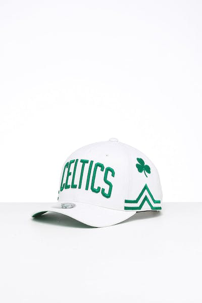 Mitchell & Ness Boston Celtics City 6 Panel 110 Flexfit Snapback White