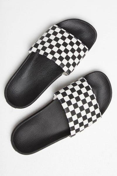 1c09f81128 Vans Slide-On Checkerboard White Black