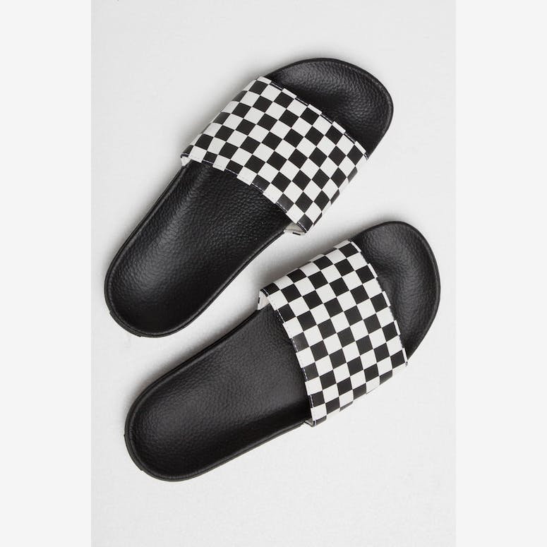 c6654686724 Vans Slide-On Checkerboard White Black – Culture Kings