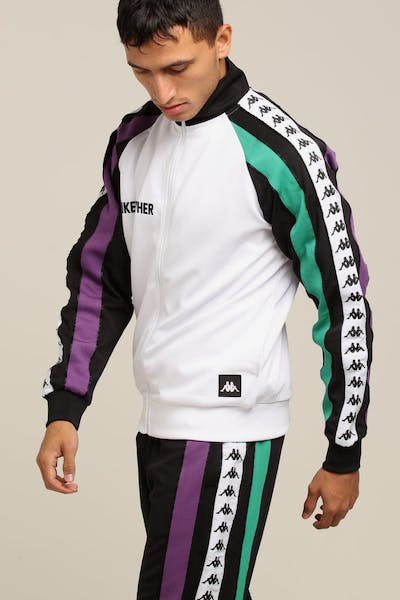 KAPPA Authentic Bebek Jacket White/Black/Purple