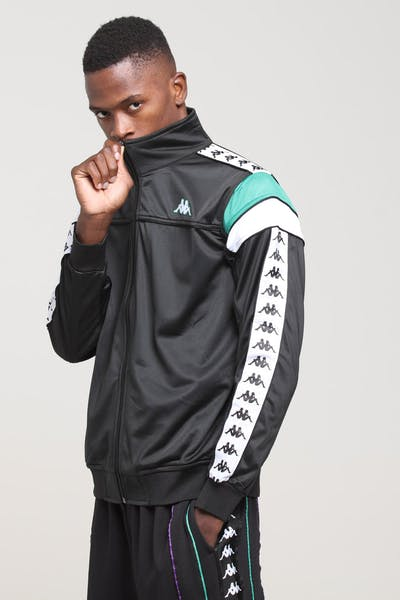 KAPPA 222 Banda Merez Slim Jacket Black/Green/White