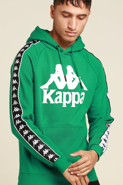 Kappa Authentic Hurtado Hood Green/Black/White
