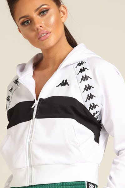 Kappa Women's 222 Banda Bail Hood White/Black