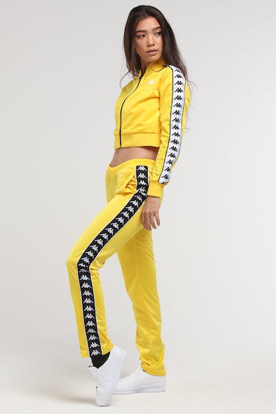 KAPPA Women's 222 Banda Wastoria Pant Yellow/Black/White