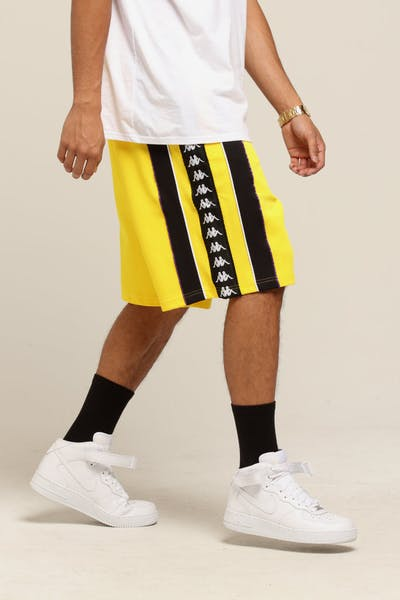 Kappa Authentic Berno Shorts Yellow/White/Purple