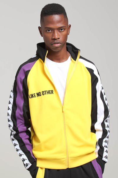 KAPPA Authentic Bebek Jacket yellow/Black/Purple