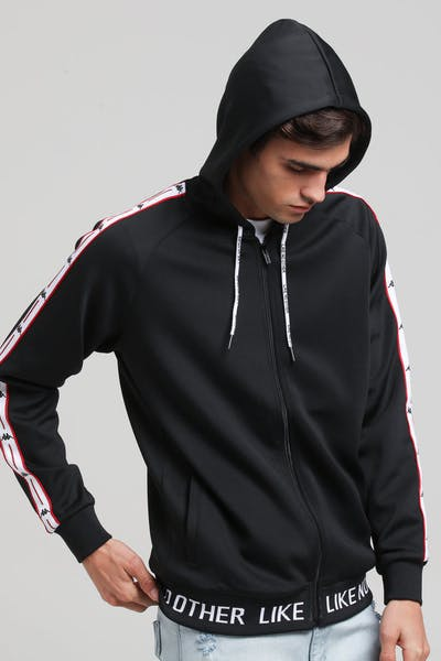 Kappa Authentic JPN Basev Hood Black/Red/White