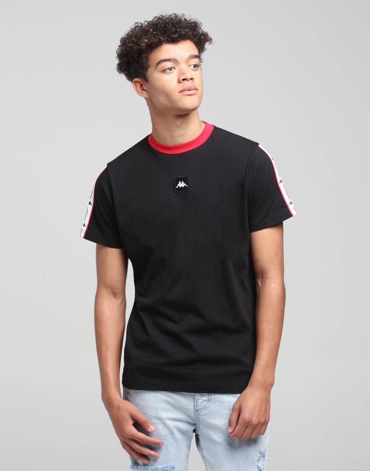Kappa Authentic JPN Barta SS Tee Black/Red/White