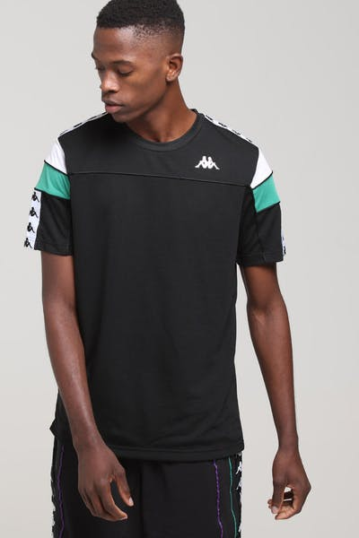 KAPPA 222 Banda Arar Slim SS Tee Black/White/Green