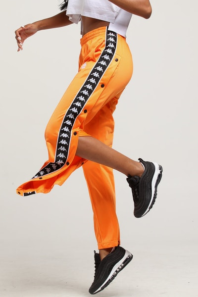 KAPPA WOMEN'S AUTHENTIC HECTOR PANT ORANGE/BLACK