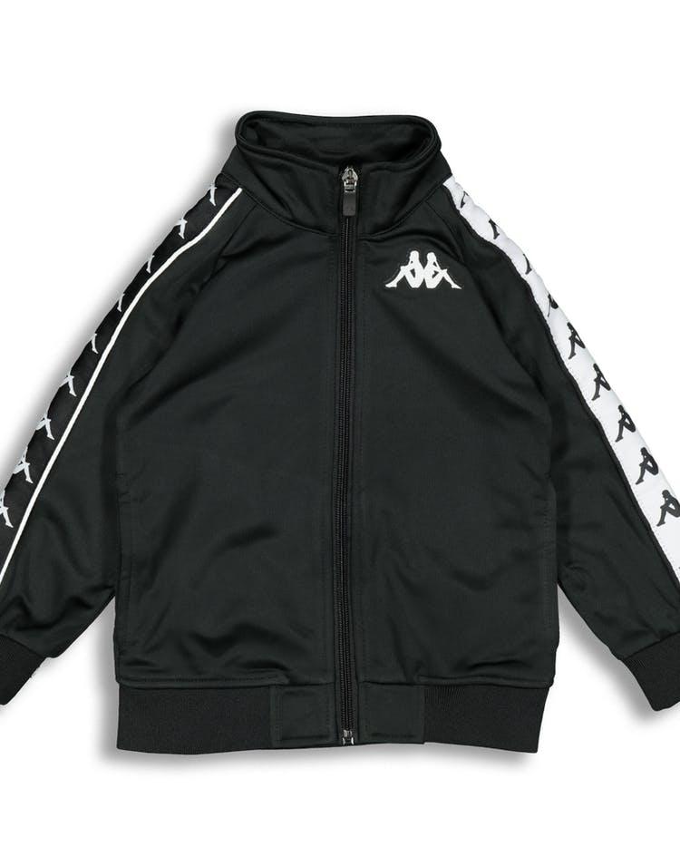 40a05dc607 Kappa Kids 222 Banda Anniston Slim Jacket Black/White