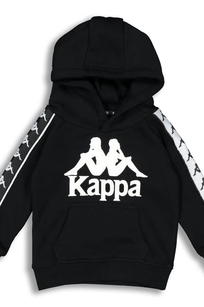 Kappa Kids 222 Banda Hurtado Hood Black/White