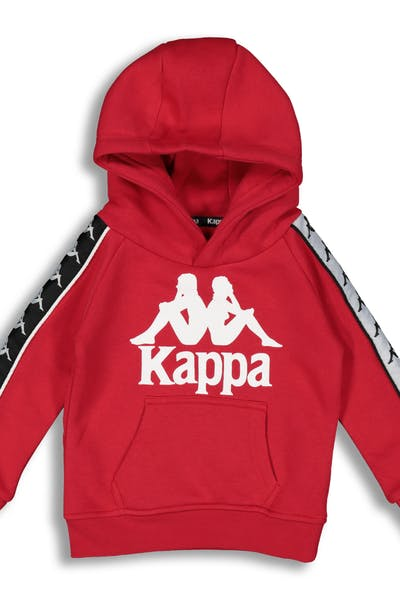 Kappa Kids 222 Banda Hurtado Hood Red/Black/White