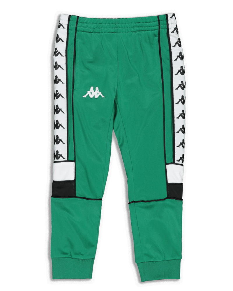 Kappa Kids 222 Banda Mems Slim Pants Green/Black/White