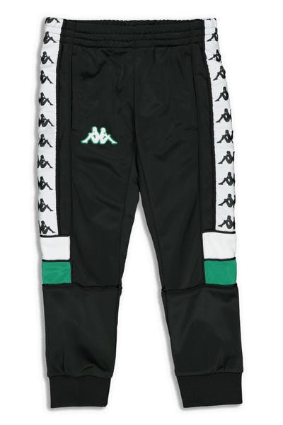 Kappa Kids 222 Banda Mems Slim Pants Black/Green/White