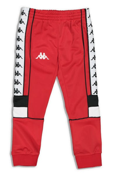 Kappa Kids 222 Banda Mems Slim Pants Red/Black/White