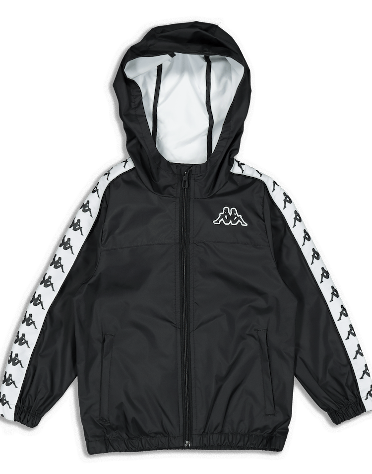 Kappa Kids 222 Banda Dawson Jacket Black/White