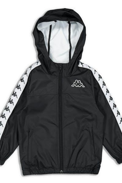 b3518c219610b2 Kappa Kids 222 Banda Dawson Jacket Black White