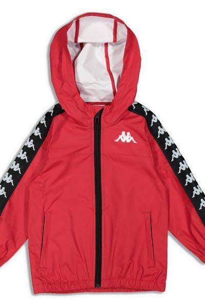 f7e0be12e826dc Kappa Kids 222 Banda Dawson Jacket Red Black White