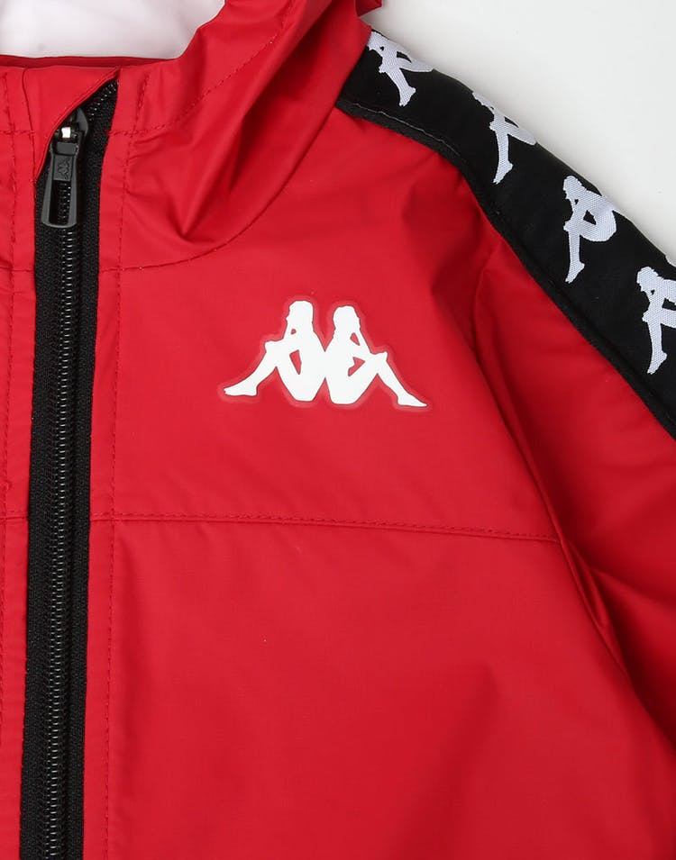Kappa Kids 222 Banda Dawson Jacket Red/Black/White