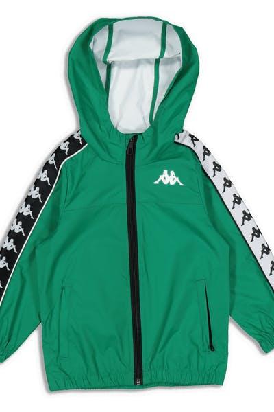 dd445869f94937 Kappa Kids 222 Banda Dawson Jacket Green Black White