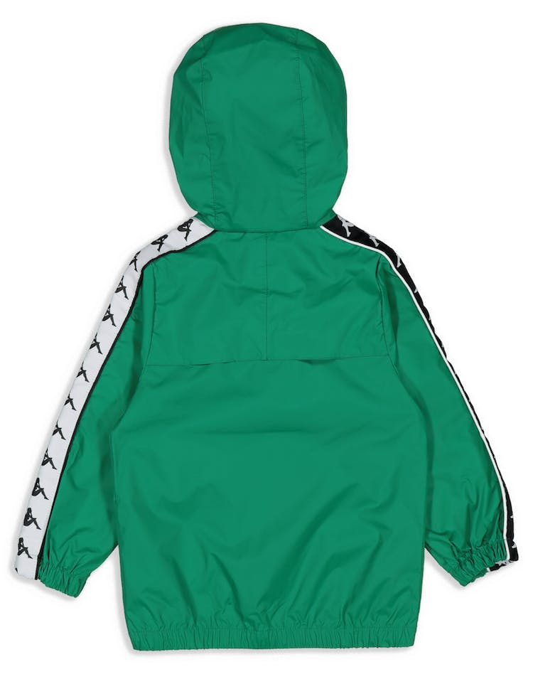 Kappa Kids 222 Banda Dawson Jacket Green/Black/White
