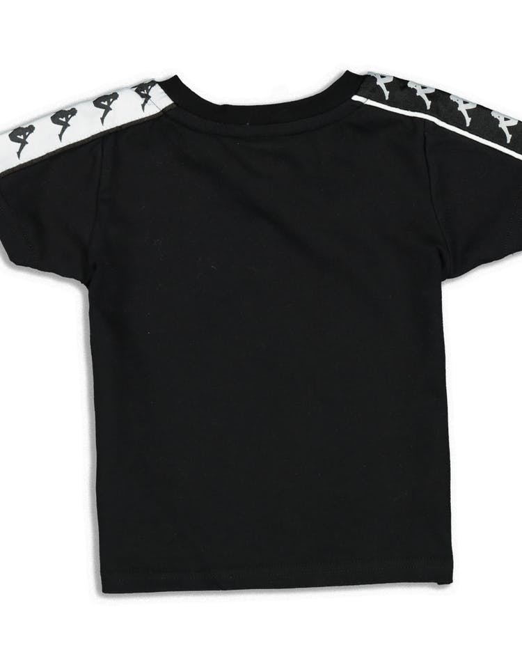 Kappa Kids 222 Banda Charlton Slim Tee Black/White