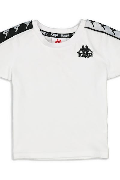 Kappa Kids 222 Banda Charlton Slim Tee White/Black