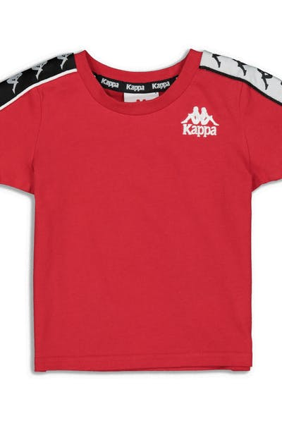 Kappa Kids 222 Banda Charlton Slim Tee Red/Black/White