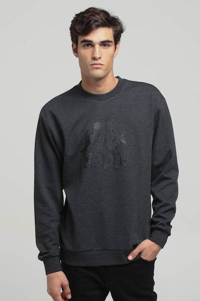 Kappa Authentic KJRL356MN Crew Sweat Dark Grey