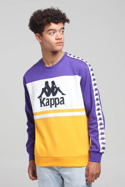Kappa 222 Banda Authentic Sweatshirt Crew Violet