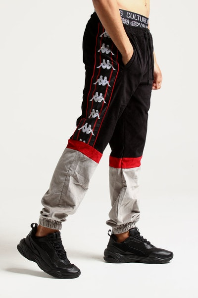 Kappa Authentic Serena Track Pant Black/Red/Grey