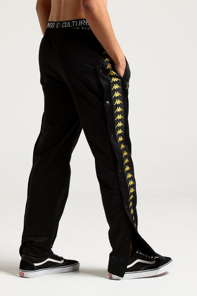 Kappa 222 Banda Astoria Snaps Pants Black/Gold