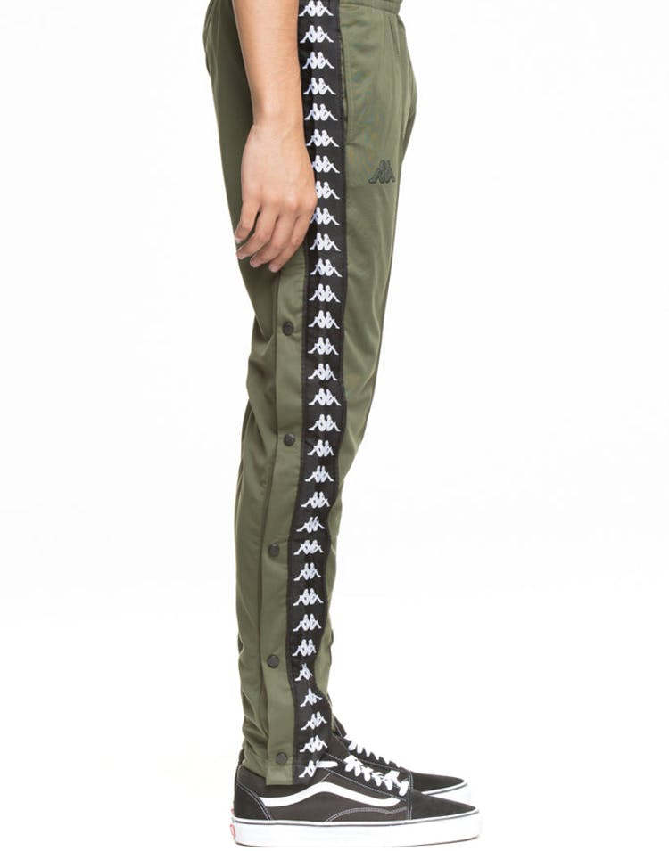 c36b80f327bc Kappa 222 Banda Astoria Slim Pant Army Green Striped Track Pant Stripe –  Culture Kings