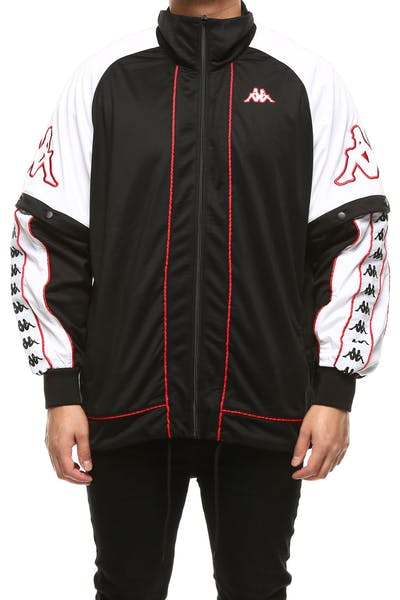 Kappa 222 Banda Hunt Jacket Black/White/Red